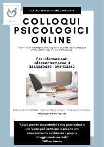 colloqui psicologici online centro moveo